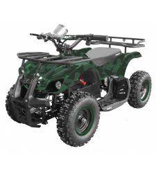 ATV electric pentru copii, 36V / 12Ah / 800W, 25 Km/h, 3+1 viteze, verde camuflaj, Hecht 56801