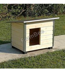 Cusca caine DC neizolata / lambriu lemn natural / acoperis carton bituminat (marime 4)