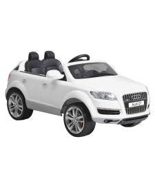 Masina electrica AUDI Q7 pentru copii, 12V / 10Ah / 2 x 35W, alb, Hecht AUDI Q7 AU716-WHITE