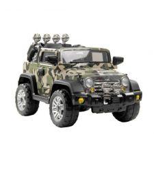 Masina electrica cu telecomanda Jeep, 30W, kaki camuflaj, Hecht 51238