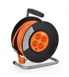 Prelungitor cablu 4 prize tambur 3 x 1.5 mm (20 m), Hecht 420153