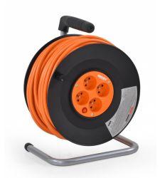 Prelungitor cablu 4 prize tambur 3 x 1.5 mm (30 m), Hecht 430153