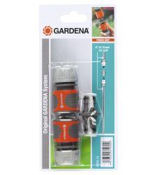 "Set 2 conectori + niplu pentru furtun 1/2"" si 5/8"", Gardena 18283"