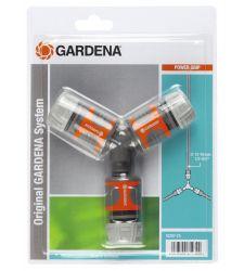 """Set 3 mufe conectoare + niplu 2 cai pentru furtun 1/2"""" si 5/8"""", Gardena 18287"""